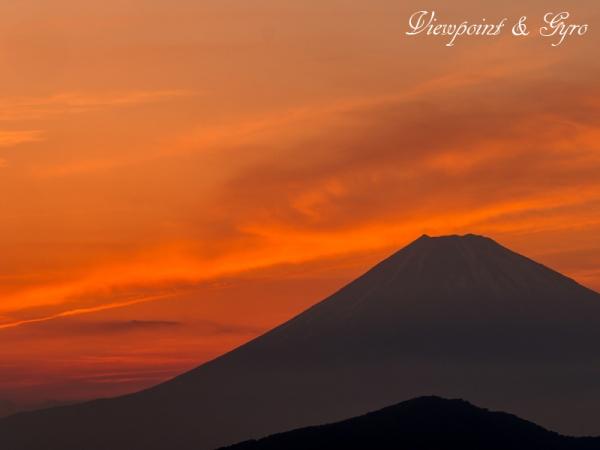 箱根大観峰からの夕景 F