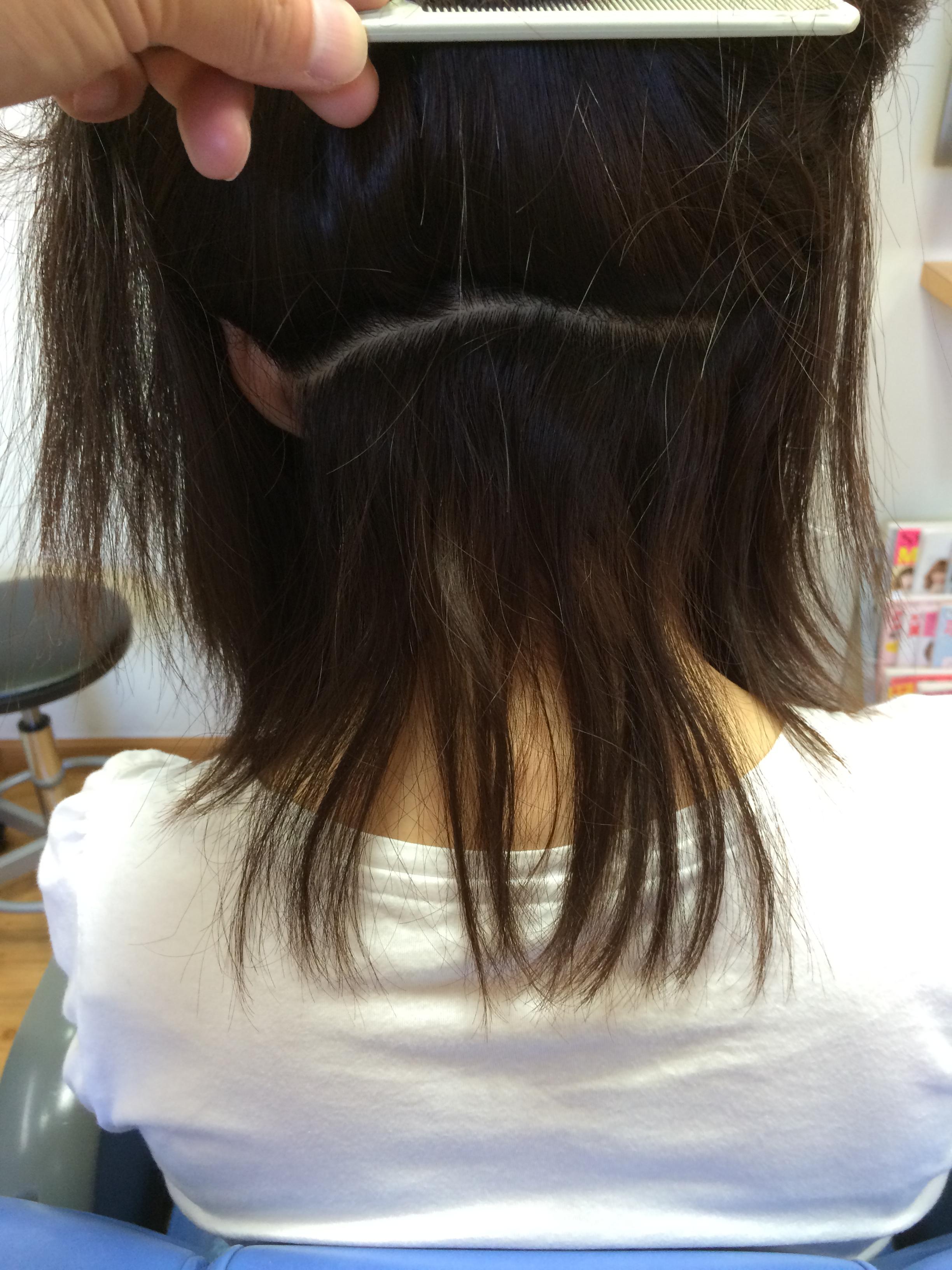 自然な縮毛矯正  ネープ ビフォア