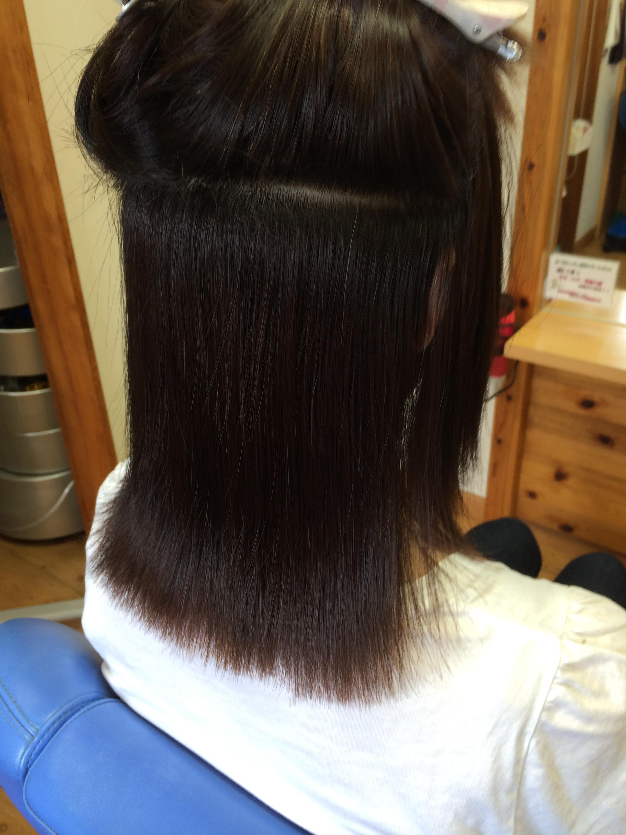 自然な縮毛矯正  ネープ アフター