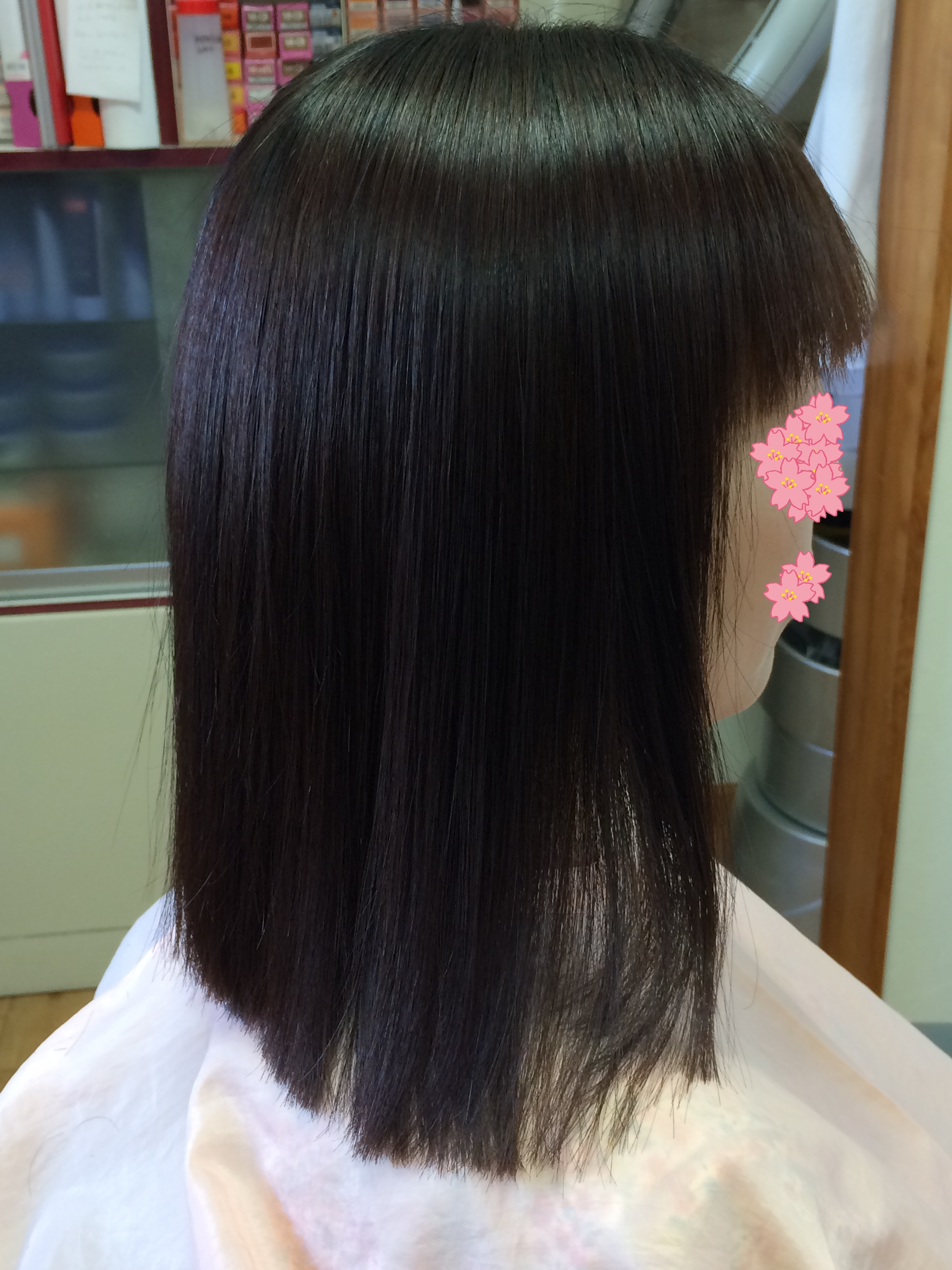 サラツヤでやわらかく自然な縮毛矯正 アフター