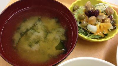 日替わりランチB 味噌汁と小鉢