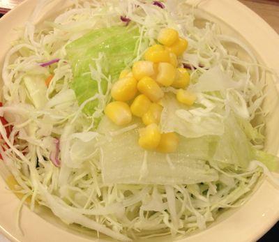 豚キムチ定食 生野菜サラダ