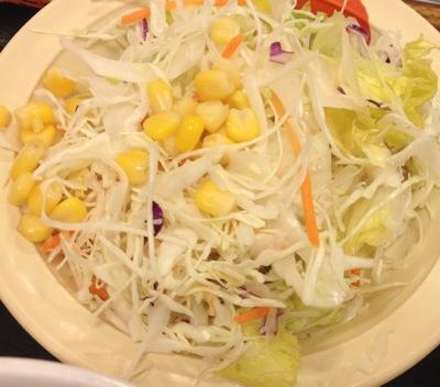 山かけネギトロ御膳 野菜サラダ