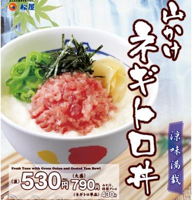 9887 松屋フーズ 山かけネギトロ丼