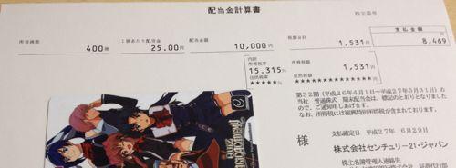 8898 センチュリー21ジャパン 配当金