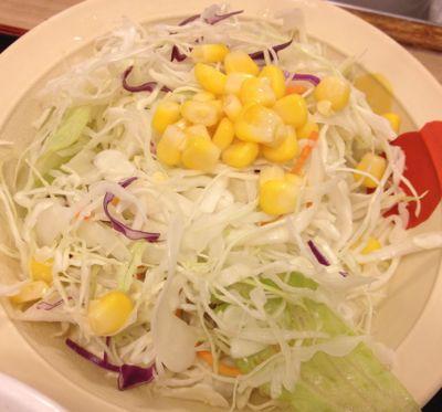 ガーリックチキン定食 野菜サラダ