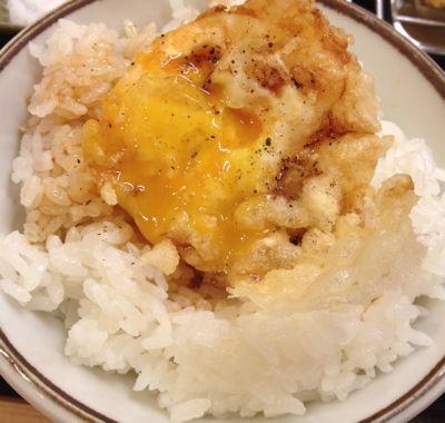 まきの定食 海 卵の天ぷらの食べ方