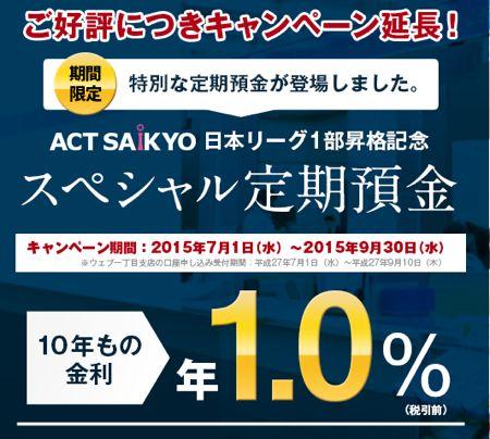 西京銀行スペシャル定期預金