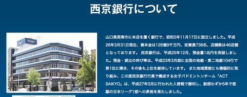 西京銀行について