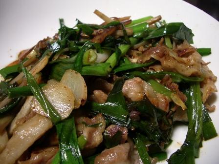 豚肉とニラのニンニク炒め
