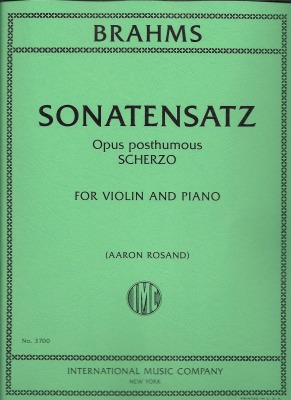 Brahms ScherzoBlog