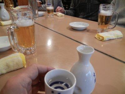 私の一杯目は日本酒1合