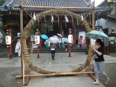 三社さんの茅の輪