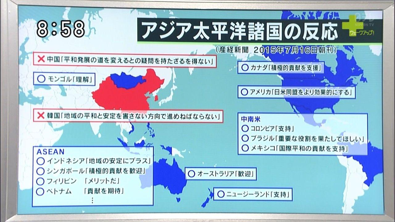 アジア諸国の反応