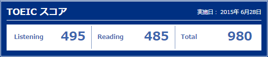 toeic 1506 result