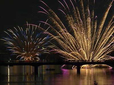 8日川辺おどり・花火大会