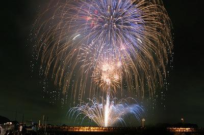 8日いびがわの祭り「ありがとう花火」