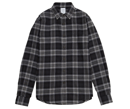 SH01 FLANNEL CHECK SHIRT GREY_R