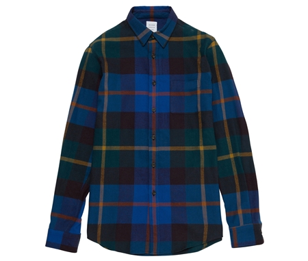 SH01 FLANNEL CHECK SHIRT BIG CHECK GREEN_R