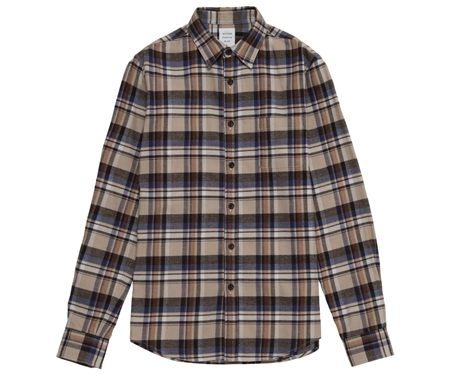 SH01 FLANNEL CHECK SHIRT MOCA_R