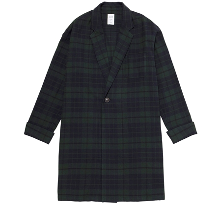 SH03 GOWN SHIRT GREEN CHECK_R