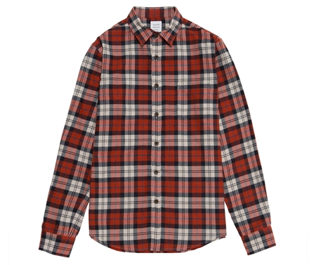 SH01 FLANNEL CHECK SHIRT ORANGE_R