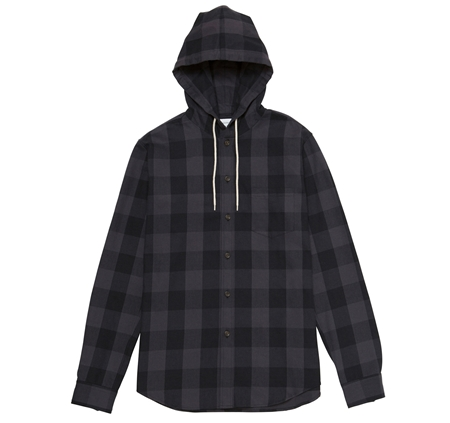 SH06 HOODED SHIRT GREY CHECK_R