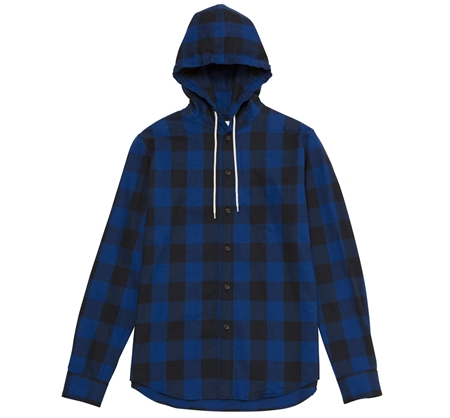 SH06 HOODED SHIRT BLUE CHECK_R