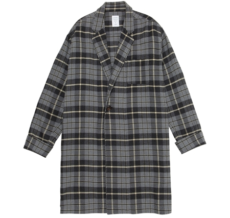 SH03 GOWN SHIRT GREY CHECK_R
