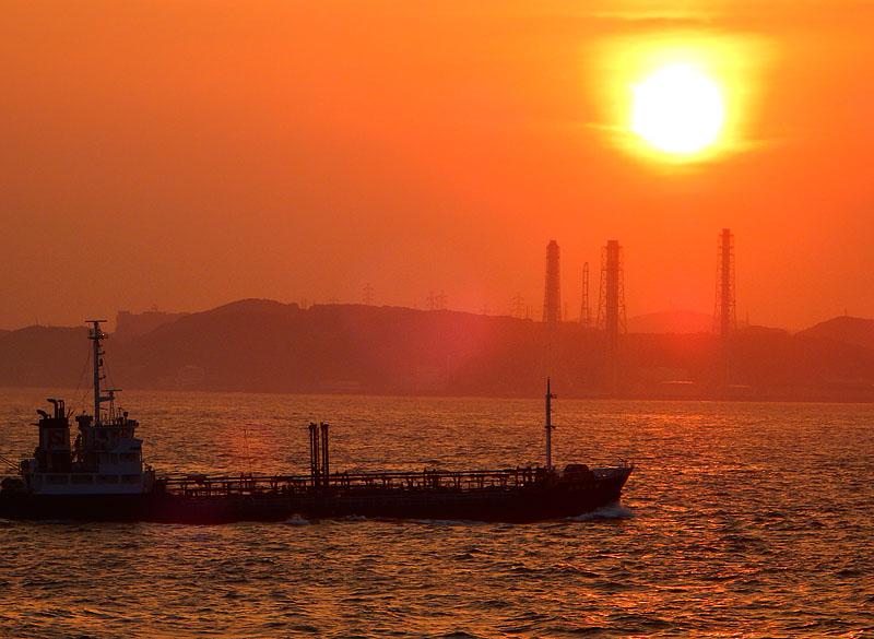 150712東京湾フェリー夕景2