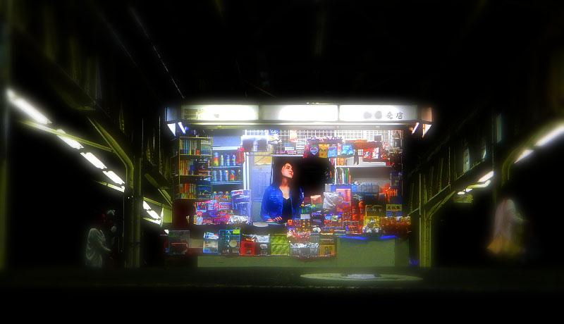 150704夜のK駅ホーム売店