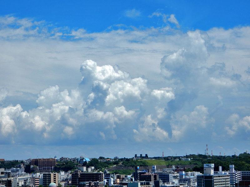 151715N入道雲と向日葵1