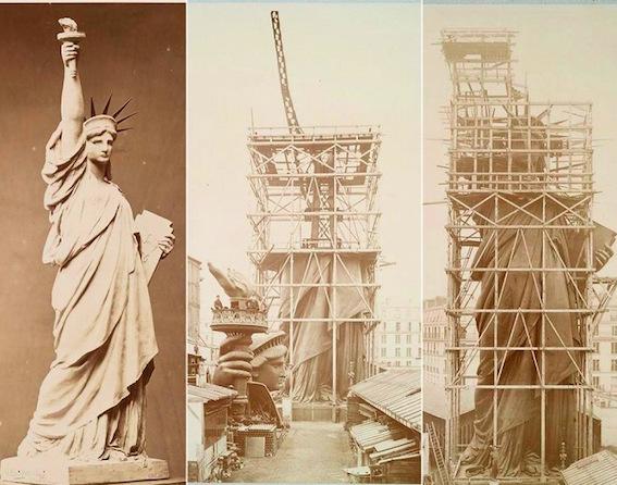 建造中の自由の女神 図