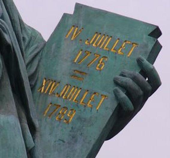 自由の女神独立宣言書 図