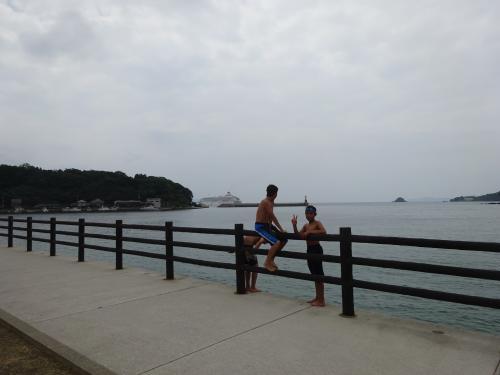 H27夏7月28日萩 飛鳥Ⅱ初入港