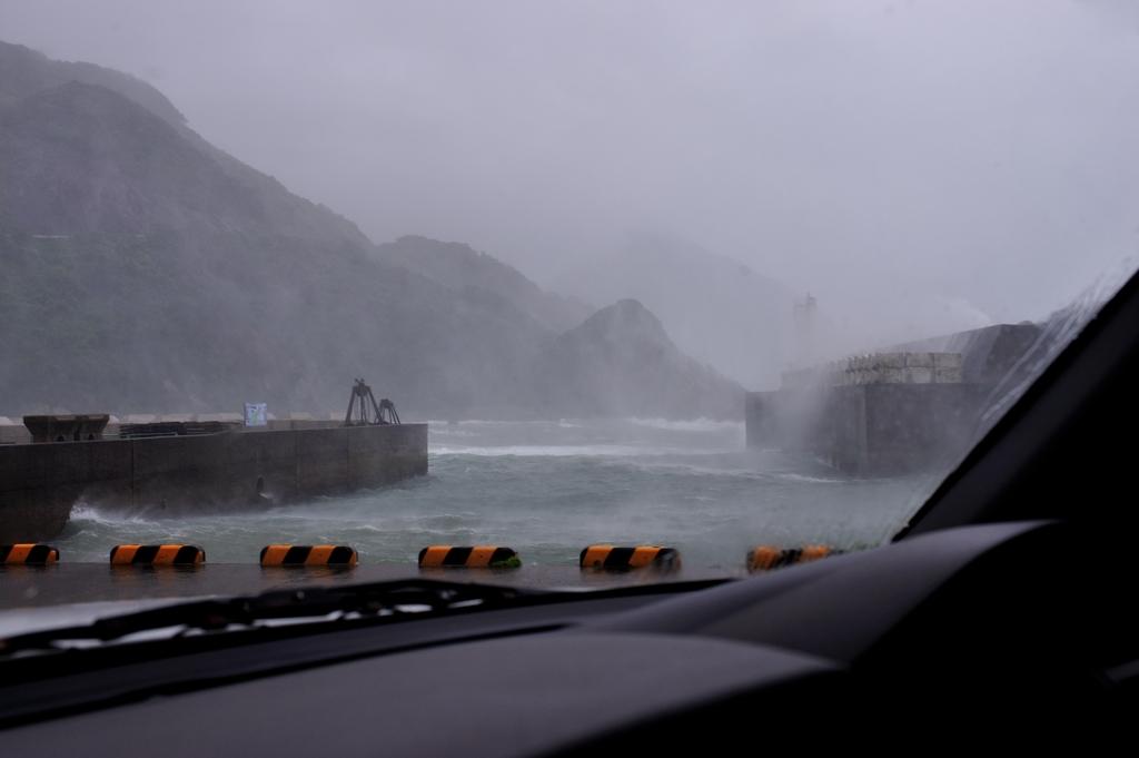 台風12号・手打港