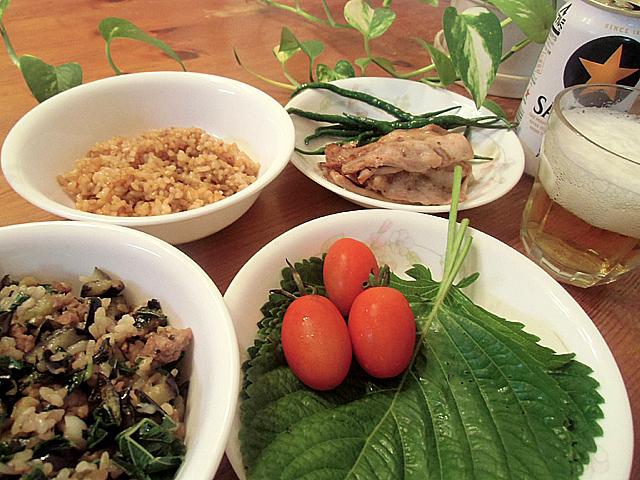 南方野菜の夕飯