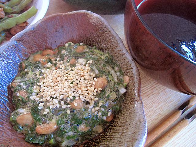 納豆とモロヘイヤの惣子
