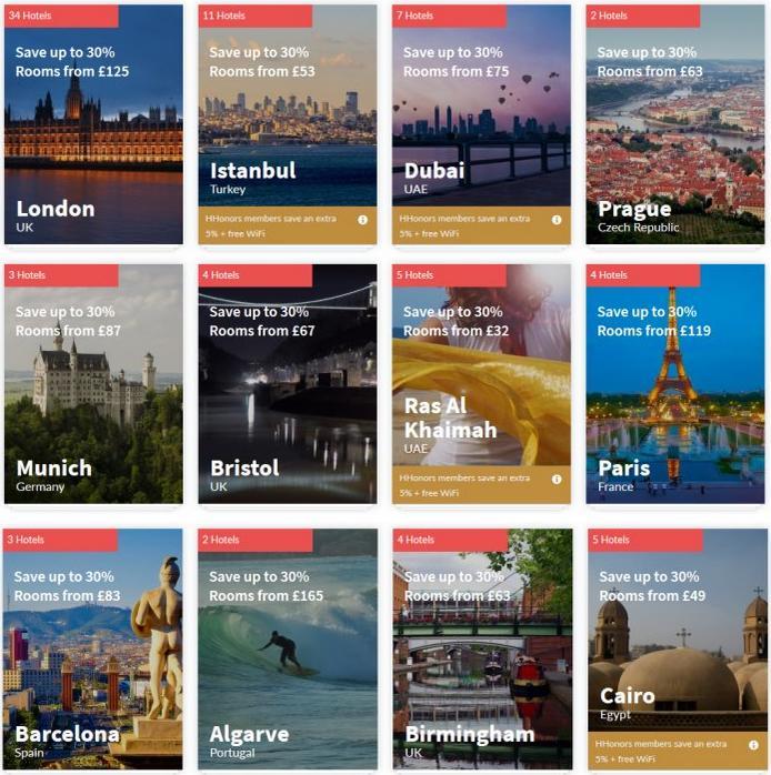 ヒルトンHオナーズ ヨーロッパ、中東、アフリカ滞在のための夏の週末セール最大35%OFFまで