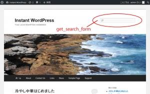 検索フォームはget_search_form - Wordpressを覚えよう!