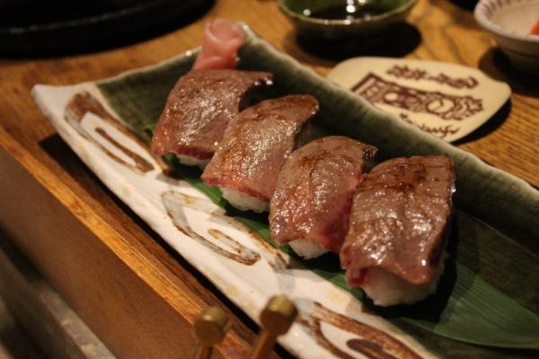 牛の握り寿司