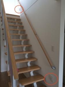 階段保安灯位置