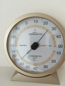 22日午前室内湿度2階洗濯室