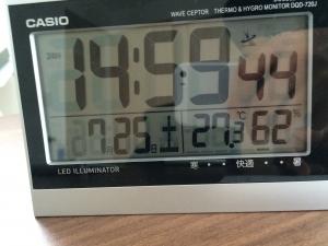 書斎温湿度計
