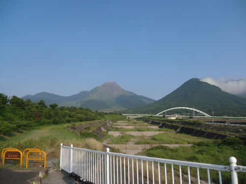 今朝の普賢岳
