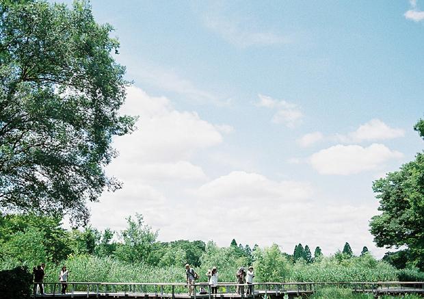 昭和記念公園の池の所