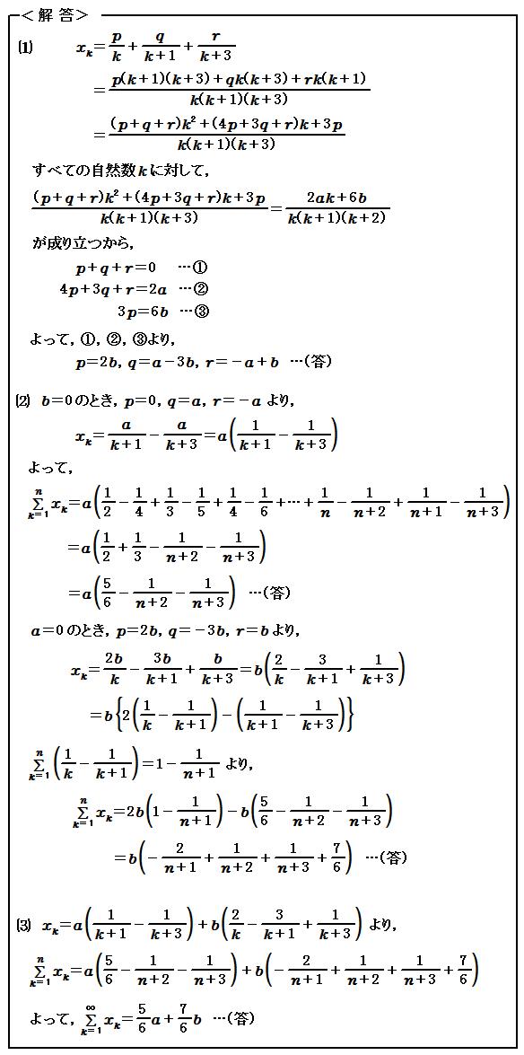 2015神戸大学 医学部 第4問 無限級数 解法