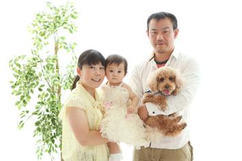 1歳記念群馬伊勢崎ペットと一緒ふうかちゃんご家族