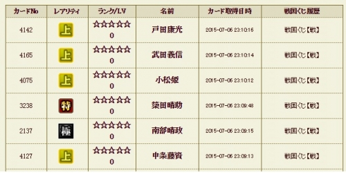 戦くじ4履歴