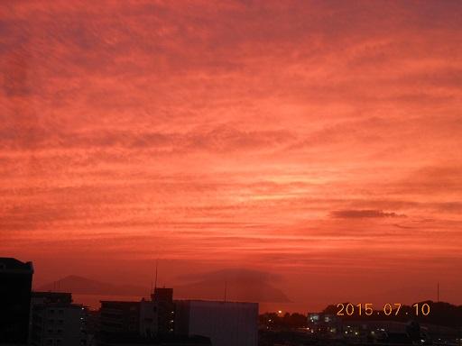 過日の夕陽
